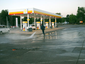 Industrial Gas Station Cleaning