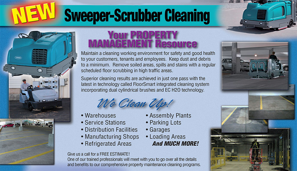 Sweeper-Scrubber Cleaning