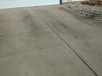 Driveway before Cleaning